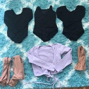 Other - Girls S Ballet Set: 3 Leotards&Wraptop